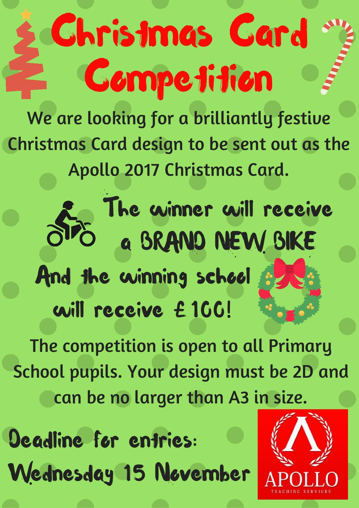 Christmas Card Competition Poster