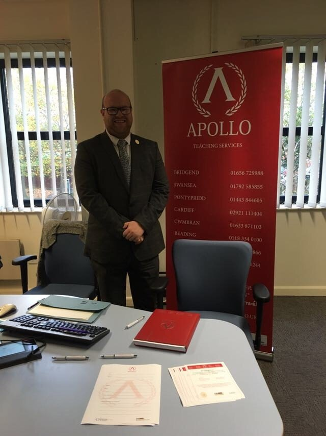 Ryan at the Supporting You event in Caerphilly Job Centre