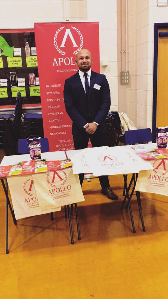 Josh at St Joseph's High School Career Event