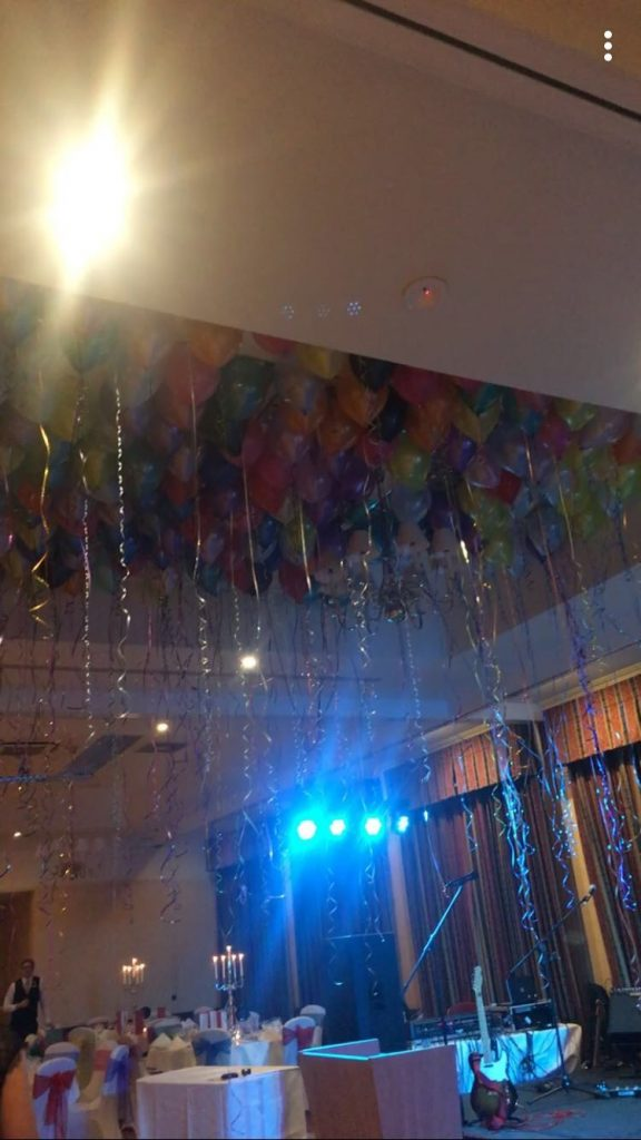 REST Winter Ball Coloured Balloon Decorations