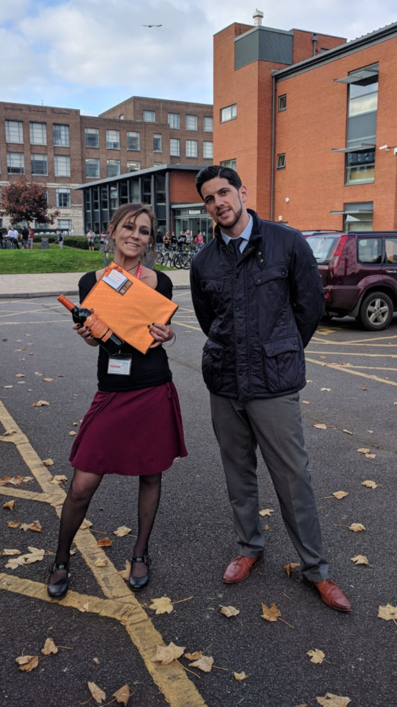 Natasha Robson Employee of the Month for October from Reading