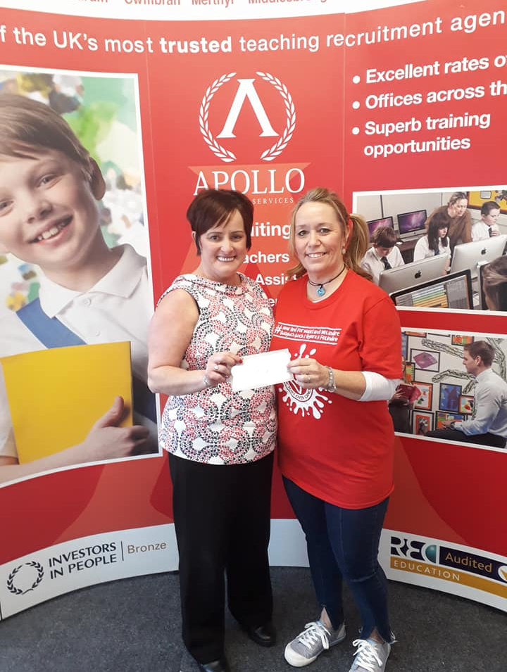 Angela Operations Director from Apollo and Tracey Davies Velindre Ambassador