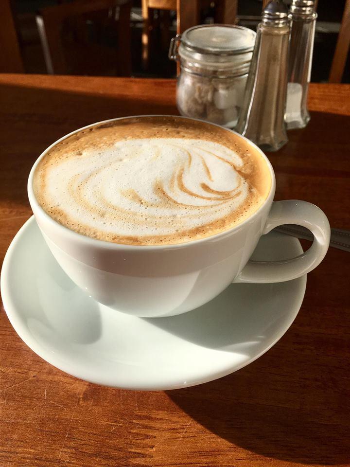Coffee in Willmore's Cafe Penarth