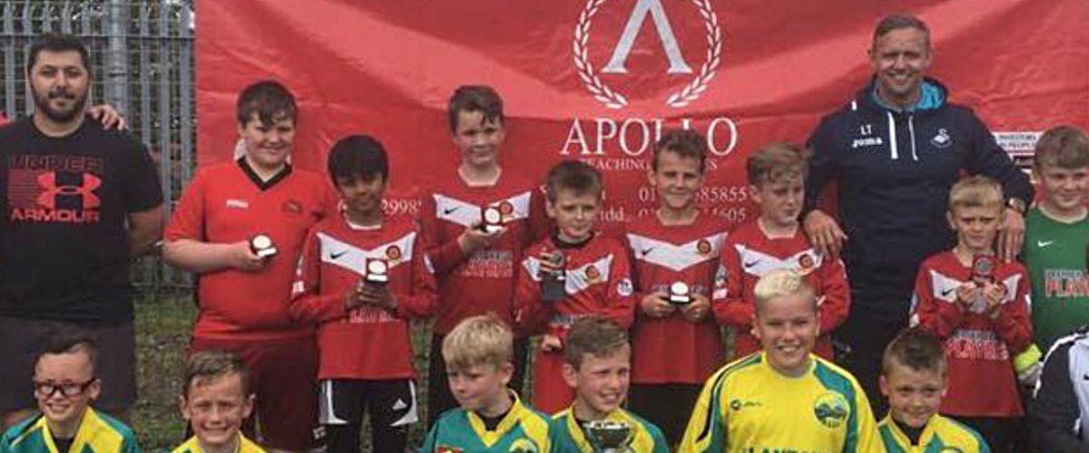 Winning teams of Apollo Swansea's Football Tournament 2017