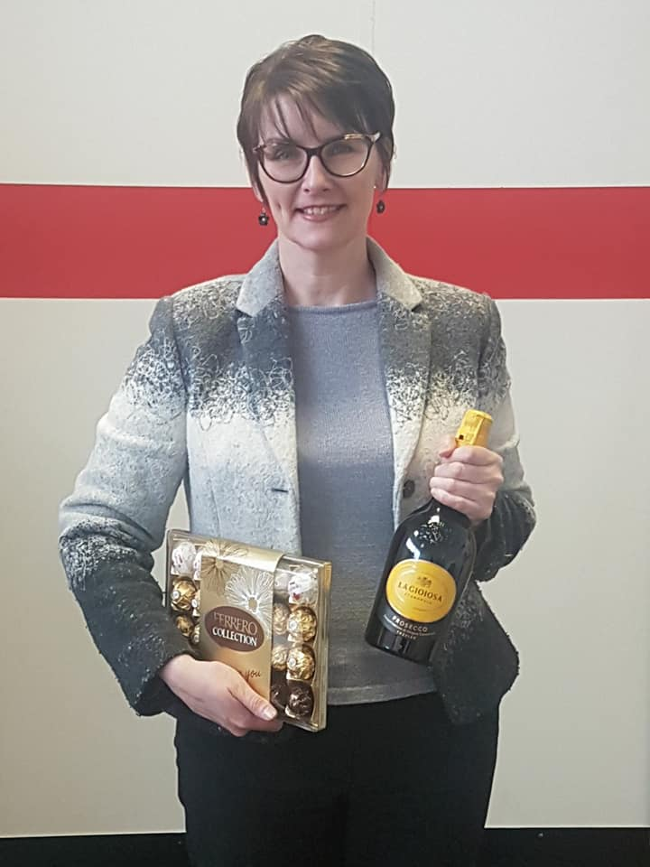Kathryn Holmes Employee of the Month February 2018