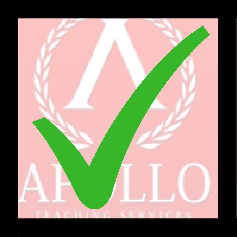 Green tick over Apollo logo