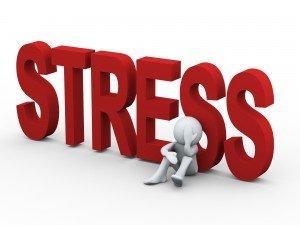 Stress with cartoon man